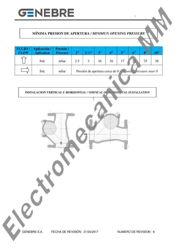 """Válvula De Retención A Bola 4"""" – Genebre – Artículo 2453"""