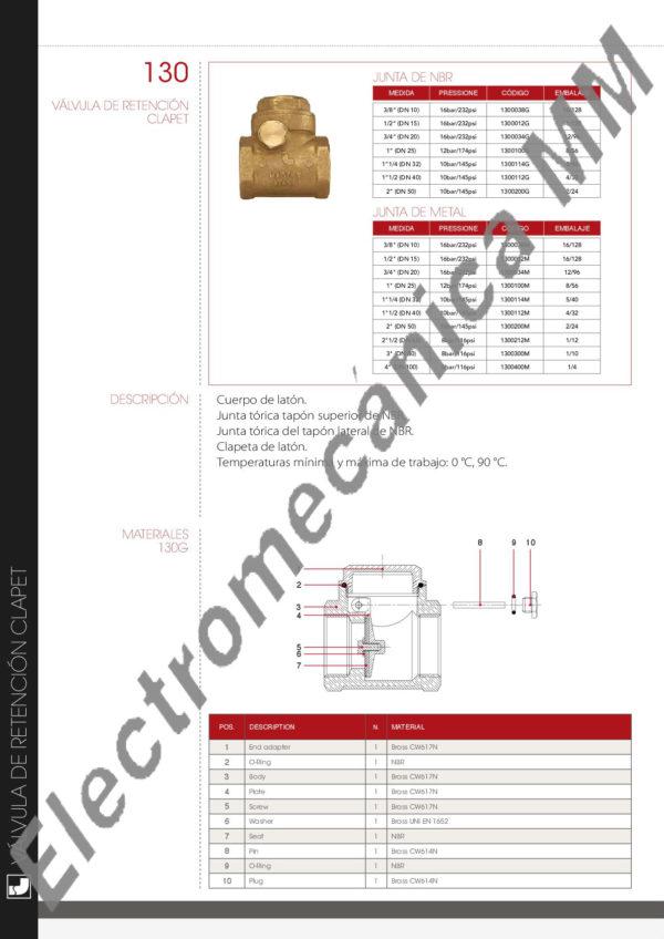 Válvula De Retención A Clapeta 3/4″ – Itap – Articulo 130