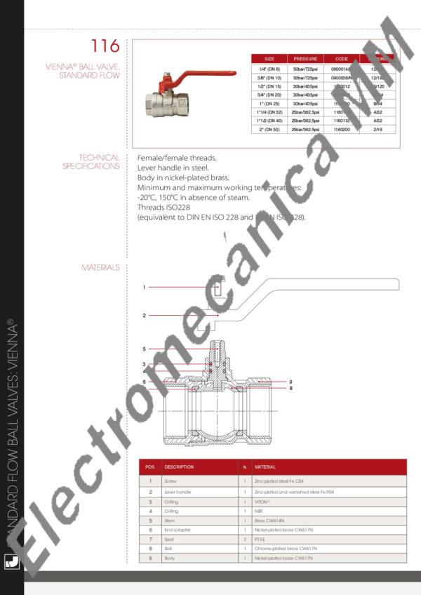 Válvula Esférica 2″ – ITAP – Articulo 116